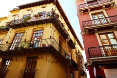 Stock Photo of Valencia barrio del Carmen street facades Spain