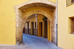 Stock Photo of Valencia Portal de Valldigna arch barrio del Carmen