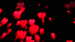 Valentine's Day Hearts Love Romance Couple Feeling Emotion Stock Footage