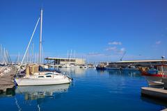 Stock Photo of Denia marina port in Alicante of Spain