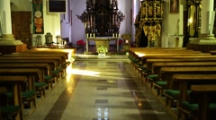 Church of Sts. Bartholomew in Paslek, Poland Stock Footage