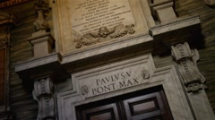 Basilica di Santa Maria Maggiore in Rome, Italy Stock Footage