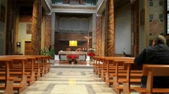 Chapel of San Lorenzo in Rome, Italy Stock Footage