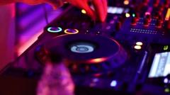 DJ Console close-up - stock footage