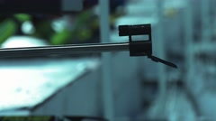 Biathlon. The shots from a rifle. Close-up of the muzzle of a rifle  - stock footage