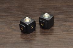 studio flashes synchronizers - stock photo
