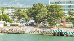 Puerto Vallarta Mexico City Waterfront Vehicle Traffic Stock Footage