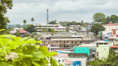 Fiji Overlooking Capital City of Suva Buildings with Green Plants Stock Footage