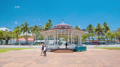 Nouméa New Caledonia Place Feillet in the City Center Stock Footage