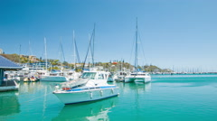 Generic Boats in Nouméa New Caledonia Tropical Marina Stock Footage