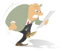 Angry man Stock Illustration