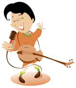 Singer - stock illustration