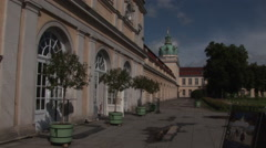 The castle of Charlottenburg in Berlin Stock Footage