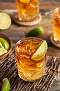 Dark and Stormy Rum Cocktail Stock Photos