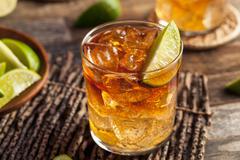 Dark and Stormy Rum Cocktail - stock photo