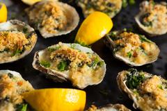 Homemade Creamy Oysters Rockefeller - stock photo