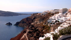 Santorini Island, Greece. Picturesque Oia village  and the caldera. - stock footage