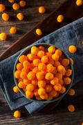 Unhealthy Cheesy Cheese Puffs Stock Photos