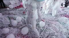 Crazy Party WITH Paper ART Characters Stock Footage