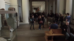 British Museum London England historical display tourists 4K Stock Footage