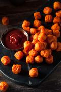 Homemade Sweet Potato Tater Tots Stock Photos