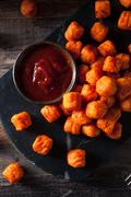 Homemade Sweet Potato Tater Tots - stock photo