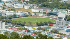 Stock Video Footage of Wellington NZ Basin Reserve Cricket Grounds