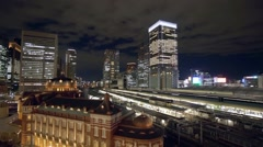 Tokyo at Night-Time . the Lights of the City at Night - stock footage