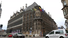Town hall of Ghent, very old and important hall in Europe Stock Footage