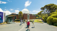 Wellington NZ Carter Observatory in the Botanical Gardens Stock Footage
