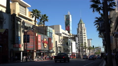 Stock Video Footage of  Hollywood boulevard, walk of famous -Los Angeles