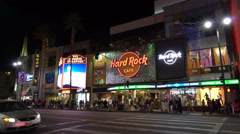 Hollywood boulevard, walk of fame at night - Los Angeles - stock footage