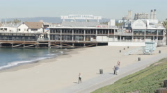 Close Up Shot of Redondo Beach Pier  Stock Footage
