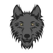 Stock Illustration of Beautiful wolf tattoo.Vector wolf's head as a design element