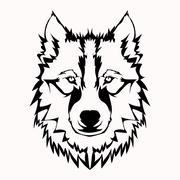 Wolf Head Logo Mascot Emblem Stock Illustration