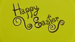 Happy Easter Stop motion Stock Footage