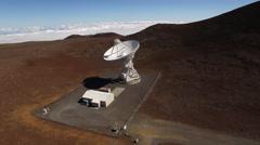 aerial shot of big satellite dish - stock footage