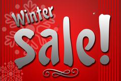 Winter Sale combine by sparkle star Stock Illustration