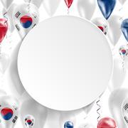 Flag Republic of Korea - stock illustration