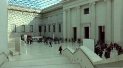 British Museum tourism educational London England 4K Stock Footage