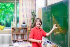 School child at math class Stock Photos