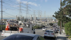 Powerlines in Redondo Beach Stock Footage