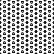 Seamless Black and White Abstract Pattern from Repetitive Concentric Circles - stock illustration