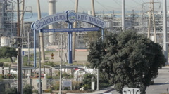 Power Plant in Redondo Beach Stock Footage