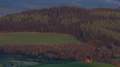 Deep summer evening colours in the Tweed Valley, Scottish Borders Stock Footage