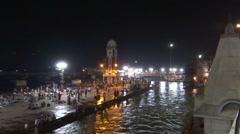 Bath in Ganga River Stock Footage