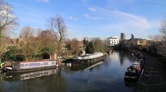 Grand Union Canal at Westbourne Park, London, UK Stock Footage