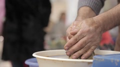 The manufacture of pottery Stock Footage