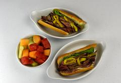Roast Beef Deli Hoagie Stock Photos