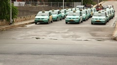Call Taxi on the road Stock Footage